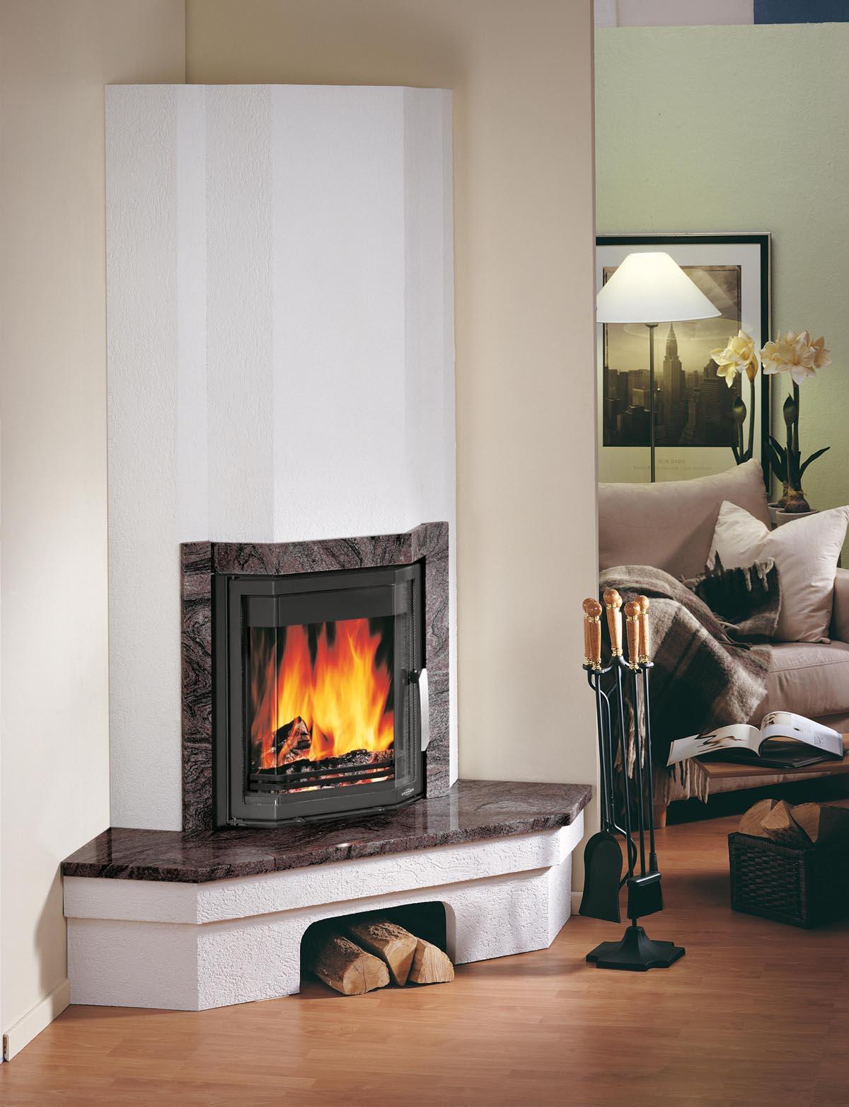 kamine gala classic eck granit schwarz komplettkamin. Black Bedroom Furniture Sets. Home Design Ideas